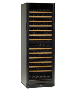 Standard Line wijnbewaarkast zwart duo model 184
