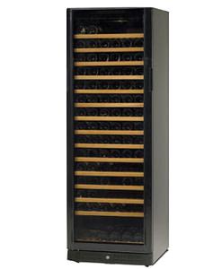 Standard Line wijnbewaarkast zwart mono model 184