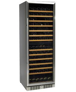 Standard Line wijnbewaarkast inox deur duo model 184